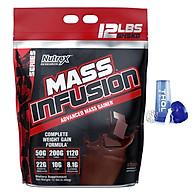 Sữa Tăng cân - Tăng cơ Mass Infusion NUTREX 5.4Kg + Tặng kèm Bình lắc (Màu ngẫu nhiên) 600ml thumbnail