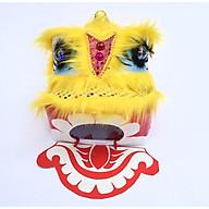 Đầu lân vuông trung thu có đèn 25cm x 25cm x 24cm - màu vàng thumbnail