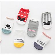 Combo 2 đôi tất chống trượt cho bé 0-3 tuổi hoạt hình đáng yêu thumbnail