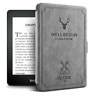 Combo Máy Đọc Sách Kindle Paperwhite Gen 10th (8GB - Màu Đen) và Bao da WELL BEGUN Màu Ghi Xám - Hàng Chính Hãng thumbnail