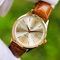 Đồng hồ nam dây da cao cấp chống nước Thiết kế sang trọng Lịch lãm Phù hợp khi đi làm, đi chơi - ORDN0005W thumbnail