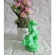 Tượng ngựa đá poly màu xanh ngọc NXH12 thumbnail
