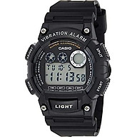 Casio W-735H-1AVEF Mens Dual Time Black Resin Strap Watch thumbnail