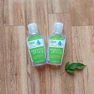 Combo 2 chai Gel rửa tay khô Glee Care 60ml (Hương trà xanh) Công nghệ Nano Bạc diệt khuẩn thumbnail