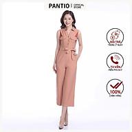 Jumpsuit chất liệu thô dáng suông không tay nơ phần eo FJS3080 - PANTIO thumbnail