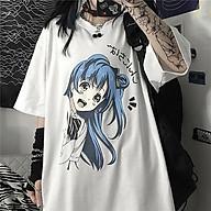 Áo Thun tay lỡ cho cả Nam và Nữ đẹp Hình cô gái anime thumbnail