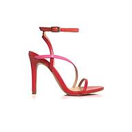 Giày Sandal Gót Nhọn Quai Chéo Mỏng 10 phân Sulily SG2-IV20DOMIX màu đỏ phối hồng thumbnail