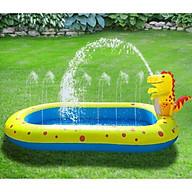 Bể Bơi Phao Cho Bé 1m7 phun nước - Bể bơi khủng long phun nước ngoài trời thumbnail