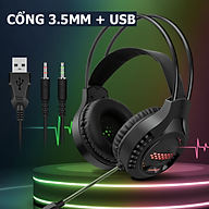 Tai nghe chụp tai AK3-JL chuyên game dành cho game thủ có mic chuyên nghiệp kèm đèn led 7 màu thumbnail