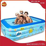 bể bơi phao cho bé loại nào tốt,Bể bơi phao trong nhà, hình chữ nhật kích thước 180cm thumbnail