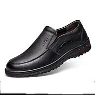 Giày da nam giày da bò nam giày nam giày cho bố giày trung niên cao cấp thời trang phong cách Hàn Quốc mã T26555 tặng kèm 1 chiếc vòng đeo tay gỗ quý ngẫu nhiên thumbnail