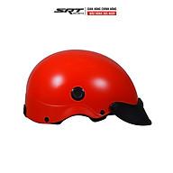 Mũ Bảo Hiểm Nửa Đầu SRT Kiểu Sơn Có Lỗ Thông Thoáng Màu Trơn thumbnail