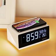 Đồng hồ thông minh kiêm sạc nhanh không dây 10W Momax - Hàng chính hãng thumbnail