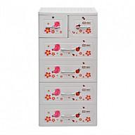 Tủ đựng quần áo Panda 5 tầng 6 ngăn có khóa Song Long- chọn màu, họa tiết ngẫu nghiên thumbnail