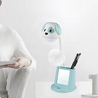 Đèn học LED chống cận thị để bàn 4 trong 1 (tích hợp 4 chức năng Đèn , quạt, gương soi, đế để điện thoại) hình cún dễ thương - màu giao ngẫu nhiên thumbnail