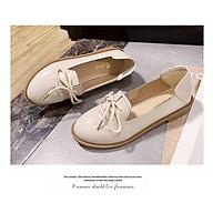 Giày Lười Nữ Da Buộc Dây Cá Tính Đế 2cm Mẫu Mới Hot - MBS576 thumbnail