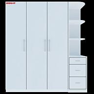 Tủ quần áo Cao Cấp alala.vn màu trắng - Thương hiệu alala.vn (1m8 x2m) thumbnail