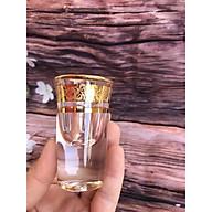 Bộ 6 ly rượu Shot thủy tinh khảm vàng cao cấp _ 20ML thumbnail