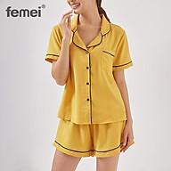 FEMEI - Đồ bộ mặc nhà bộ Pijama ngắn cao cấp PNC014 thumbnail