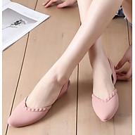 Giày nhựa đi mưa cao 3.5p, xăng đan phong cách Hàn Quốc màu đen, kem, hồng mẫu V192 thumbnail