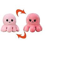 Bạch tuộc cảm xúc nhồi bông có thể đảo ngược hai mặt thay đổi màu sắc đáng yêu dành cho bé size 20-30 cm thumbnail