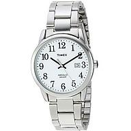 Timex Men s TW2R23300 Easy Reader 38mm Silver-Tone White Stainless Steel Bracelet Watch thumbnail