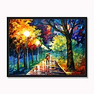 Tranh cao cấp Sự lãng mạn dưới mưa thu Model AZ1-0257 thumbnail