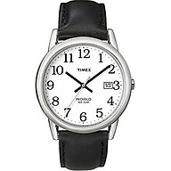 Timex Men s Easy Reader Date Leather Strap Watch thumbnail