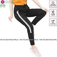 Quần jogger nữ Hiền Trần BOUTIQUE dáng dài cạp chun dây buộc, kiểu sọc to 2 bên thumbnail