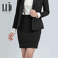 Chân váy bút chì sọc đen LUD Fashion thumbnail
