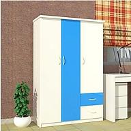 Tủ nhựa Đài Loan 3 cánh 2 ngăn T329 màu xanh dương thumbnail
