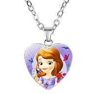 Dây chuyền Elsa bằng hợp kim hình trái tim cho bé gái J034 thumbnail