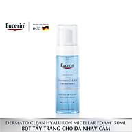 Bọt tẩy trang, rửa mặt Eucerin DermatoClean Hyaluron Micellar Foam 150ml thumbnail