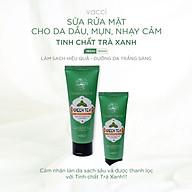 Sữa rửa mặt cho da dầu, mụn, nhạy cảm tinh chất Trà Xanh Vacci thumbnail