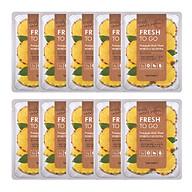 10 Mặt Nạ Tony Moly Fresh To Go Mask Sheet (10 x 22g) - Pineapple Chiết xuất từ trái dứa (thơm) giúp da trắng sáng và mịn màng hơn thumbnail