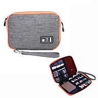 Túi đựng phụ kiện đa năng nhiều ngăn 2 mặt cho Cáp sạc di động, Sạc dự phòng, điện thoại, tai nghe, thẻ nhớ - Hàng chính hãng thumbnail
