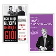 Combo sách quản trị nhân lực hay Nghệ thuật giữ chân nhân viên giỏi + Thuật thúc đẩy nhân viên - Tặng kèm bookmark thiết kế thumbnail