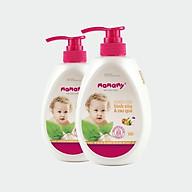 Combo 2 chai nước rửa bình sữa và rau quả an toàn cho bé Mamamy (600ml chai) thumbnail