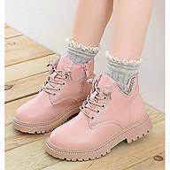 Giày bốt bé gái phong cách hàn quốc HQS35 thumbnail