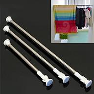 Thanh treo rèm cửa inox không cần khoan tường hay bắt vít, thay đổi vị trí linh hoạt HT04 - 110-200cm thumbnail