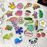Bộ 50 Sticker (nhãn dán) HOẠ TIẾT GRAFFITI DỄ THƯƠNG - dán nón bảo hiểm, ghi-ta, tủ lạnh, máy tính, điện thoại. thumbnail