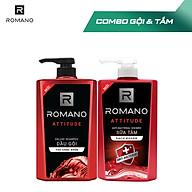 Combo Dầu gội và Sữa tắm sạch khuẩn Romano Attitude 650g chai thumbnail