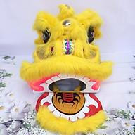 Đầu lân trung thu có đèn cỡ đại 57cm x 54cm x 53cm - Màu vàng thumbnail