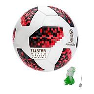 Bóng đá World Cup TELSTAR 2018 số 4 tặng kim bơm bóng + lưới đựng bóng màu đỏ trắng thumbnail