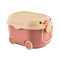 Thùng đựng đồ chơi có bánh xe hình chú vịt đáng yêu cho bé thumbnail