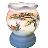 Đèn xông tinh dầu gốm bát tràng hoa vàng - giao màu ngẫu nhiên thumbnail