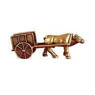Tượng đồng xe bò kéo thú vị, dùng trưng bày trên bàn, trưng trong xe oto, tủ kính - SP001528 thumbnail