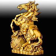 Tượng Ngựa Tài Lộc Phong Thủy Phòng Khách 28.5cm Biểu Tượng Thành Công ,Tiền Tài ,Công Danh Thăng Tiến TPT074 ( có đế ) thumbnail