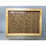 Tấm chống ám khói 3 lớp khung gỗ sồi nâu - TL03 thumbnail