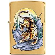 Bật Lửa Zippo 49116 Zippo Tiger Tattoo Design Brushed Brass thumbnail